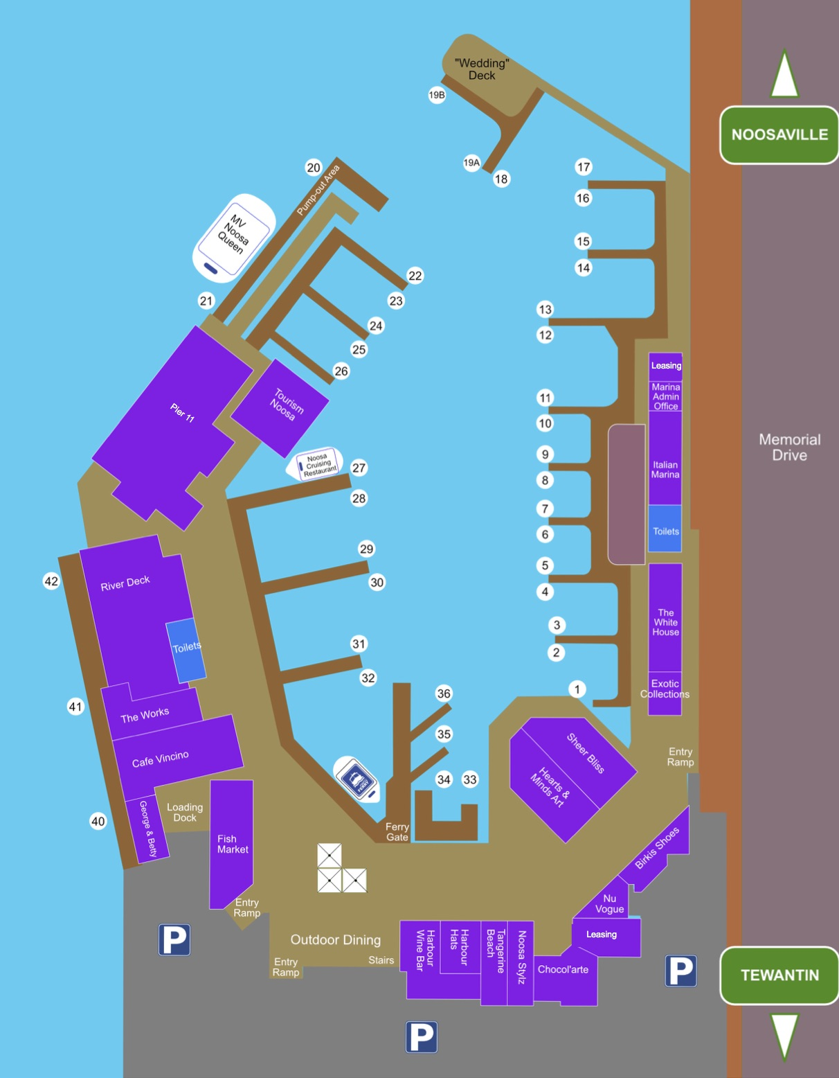 Noosa Marina berths map