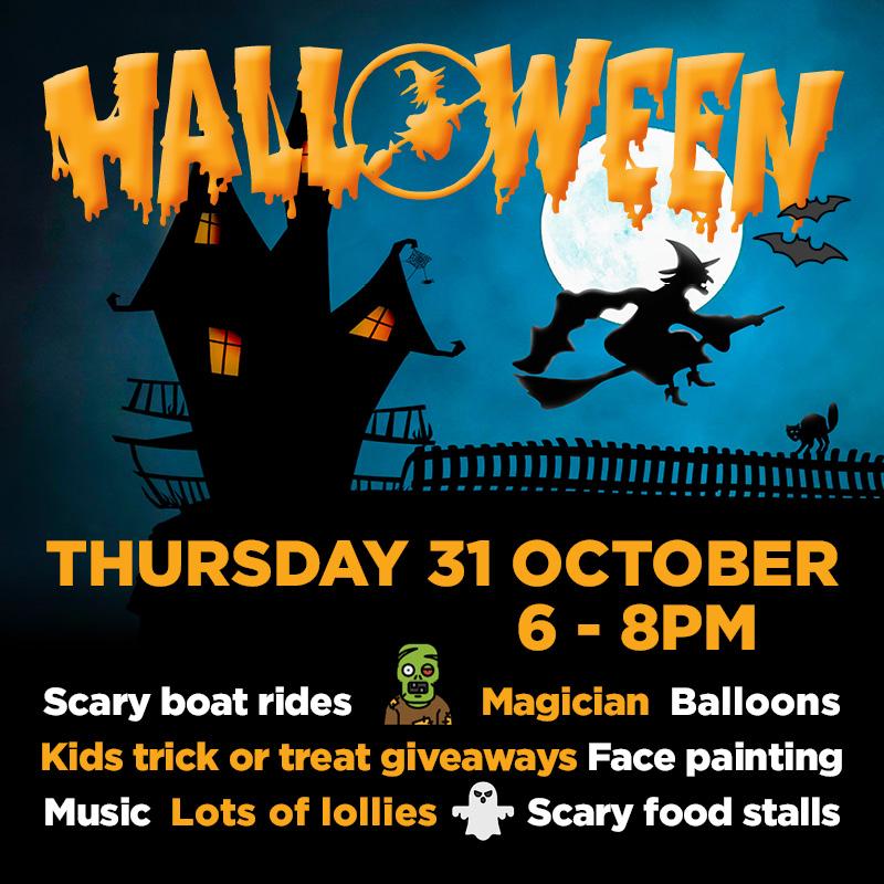 halloween poster for noosa marina