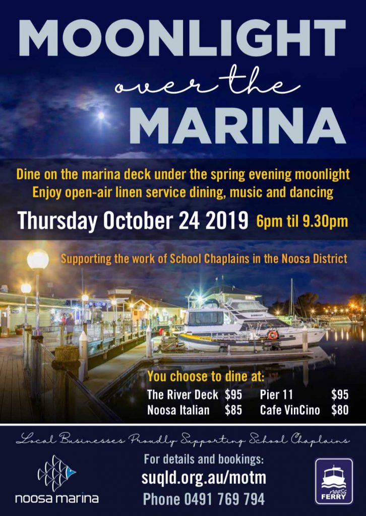 Moonlight over the Noosa Marina flyer