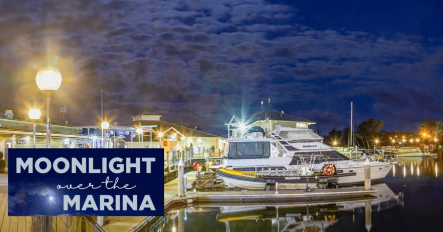 noosa marina moonlight evening banner