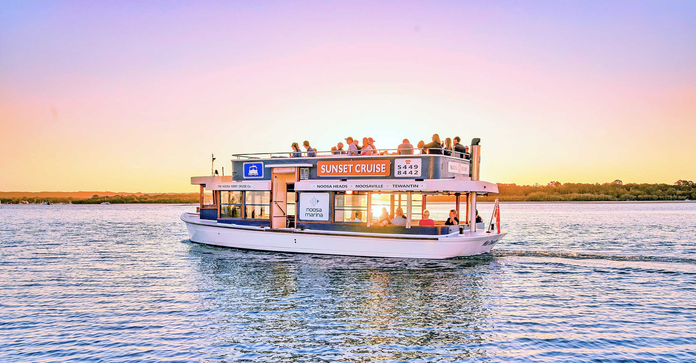 noosa ferry sunset cruise social