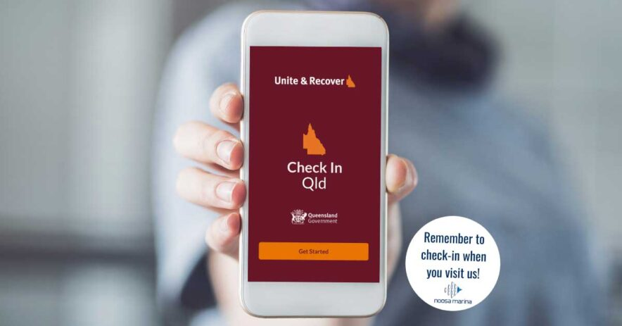check in Qld app on mobile phone